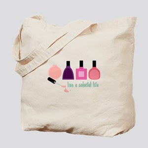Colorful Life Nail Polish Tote Bag