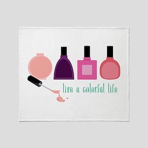 Colorful Life Nail Polish Throw Blanket