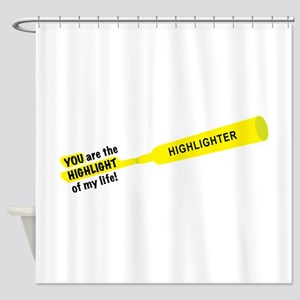 Highlight of life Shower Curtain