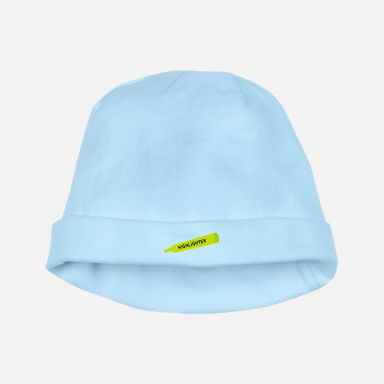 Yellow highlighter baby hat
