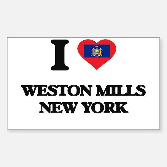 I love Weston Mills New York Decal