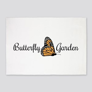 Butterfly Garden 5'x7'Area Rug