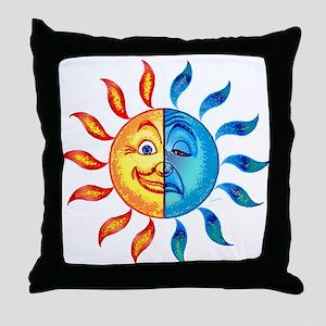 BiPolar Solar Throw Pillow