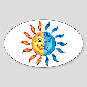BiPolar Solar Oval Sticker