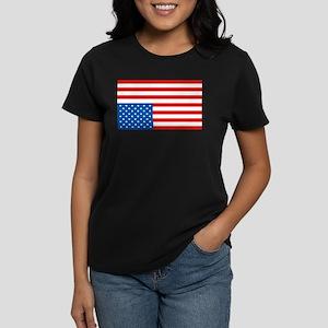 Upside Down USA Flag Women's Dark T-Shirt