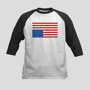 Upside Down USA Flag Kids Baseball Jersey