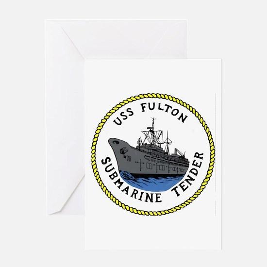 USS Fulton (AS 11) Greeting Card