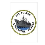 USS Fulton (AS 11) Postcards (Package of 8)