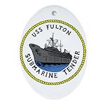 USS Fulton (AS 11) Oval Ornament