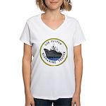 USS Fulton (AS 11) Women's V-Neck T-Shirt