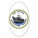 USS Fulton (AS 11) Oval Sticker