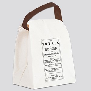 Historical Pirate Trials Canvas Lunch Bag