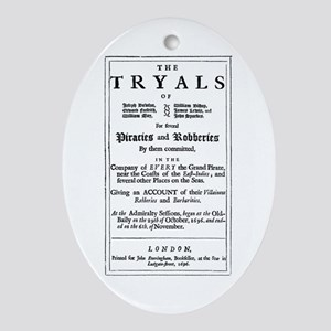 Historical Pirate Trials Ornament (Oval)