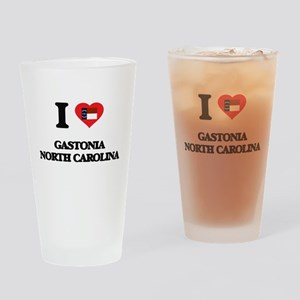 I love Gastonia North Carolina Drinking Glass