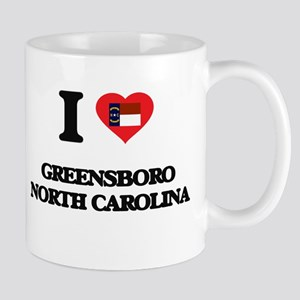 I love Greensboro North Carolina Mugs