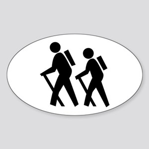 Hiking Oval Sticker