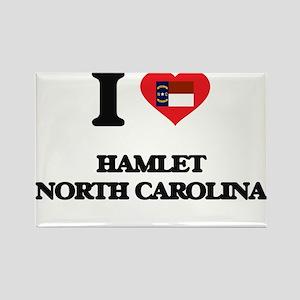 I love Hamlet North Carolina Magnets