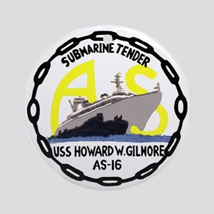 USS Howard W. Gilmore (AS 16) Ornament (Round)
