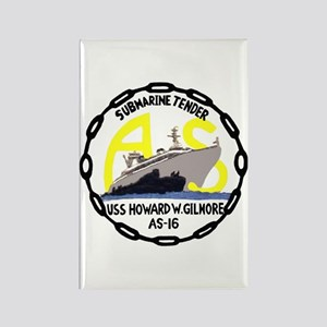 USS Howard W. Gilmore (AS 16) Rectangle Magnet