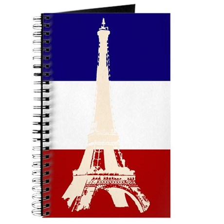 Eiffel Tower French Flag Journal