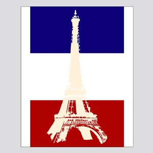 Eiffel Tower French Flag Small Poster