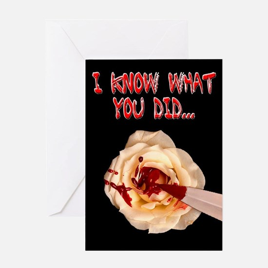 I Know What You Did Bloody Greeting Card