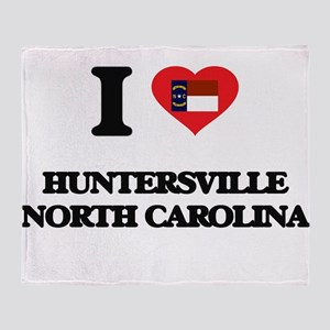 I love Huntersville North Carolina Throw Blanket