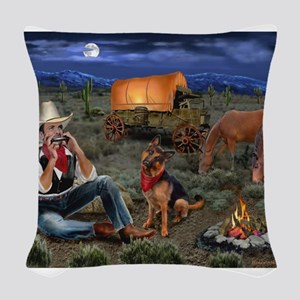 Lonesome Cowboy Woven Throw Pillow