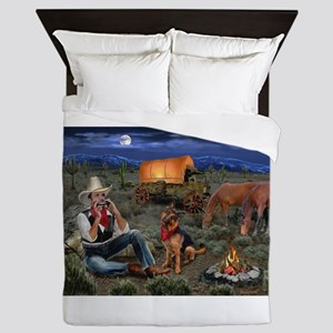 Lonesome Cowboy Queen Duvet