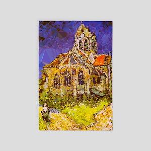 Van Gogh Church Auvers Geometric 4' X 6' R