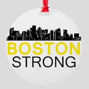 Boston Strong - Skyline Round Ornament