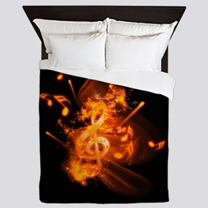 Awesome clef Queen Duvet