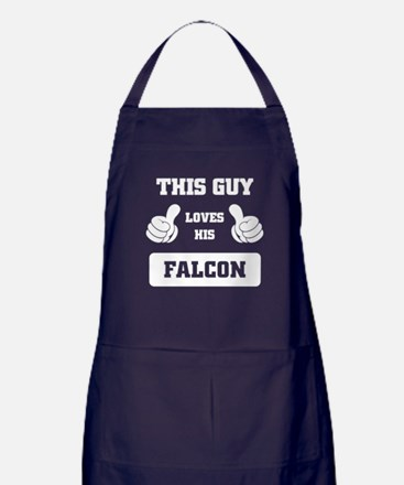THIS GUY LOVES HIS FALCON Apron (dark)
