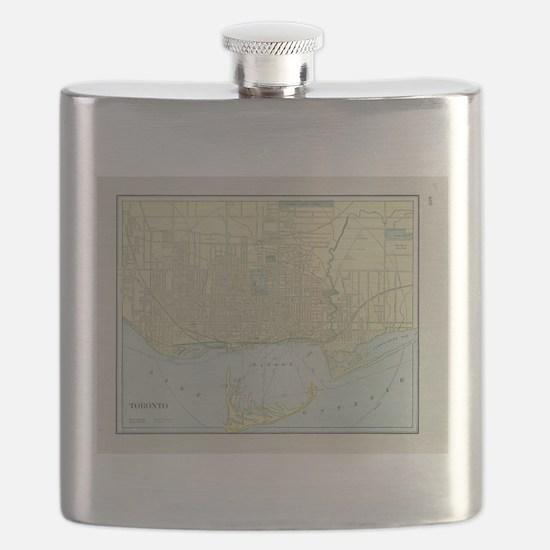 Vintage Map of Toronto (1901) Flask