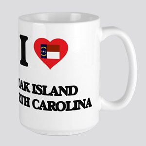 I love Oak Island North Carolina Mugs