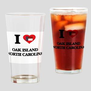 I love Oak Island North Carolina Drinking Glass
