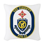USS JARRETT Woven Throw Pillow