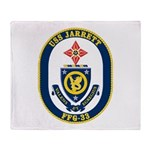 USS JARRETT Throw Blanket