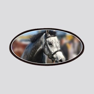 Portrait of the Grey Race Horse Patch