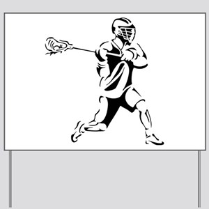 Lacrosse Player Action Yard Sign