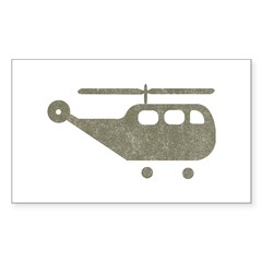 Vintage Helicopter Rectangle Decal