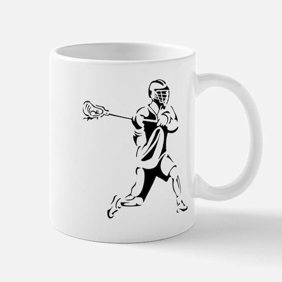 Lacrosse Player Action Mug