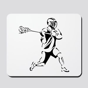Lacrosse Player Action Mousepad