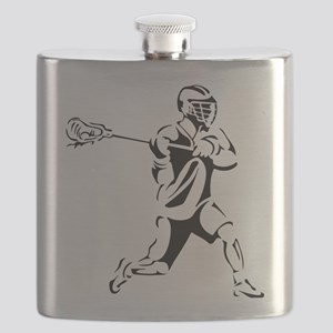 Lacrosse Player Action Flask