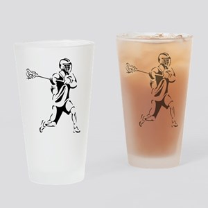 Lacrosse Player Action Drinking Glass