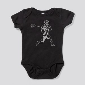 Lacrosse Player Action Baby Bodysuit