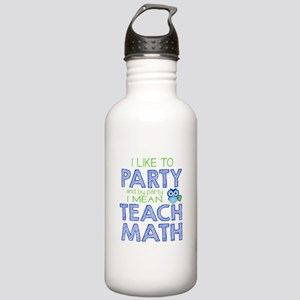 Math Party Water Bottle