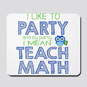 Math Party Mousepad