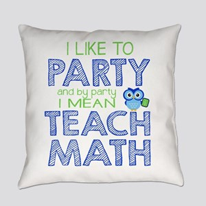 Math Party Everyday Pillow