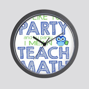 Math Party Wall Clock